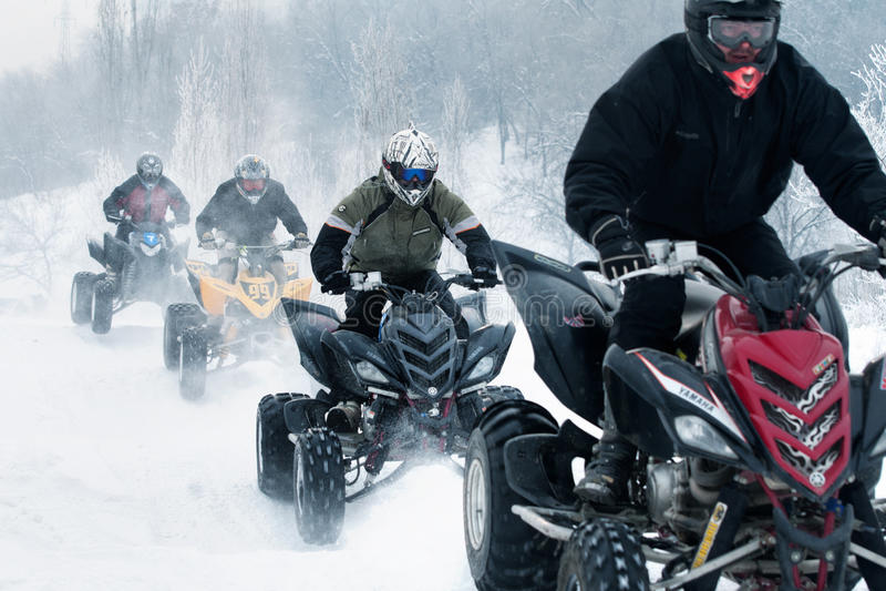 Vintermotocross royaltyfria bilder