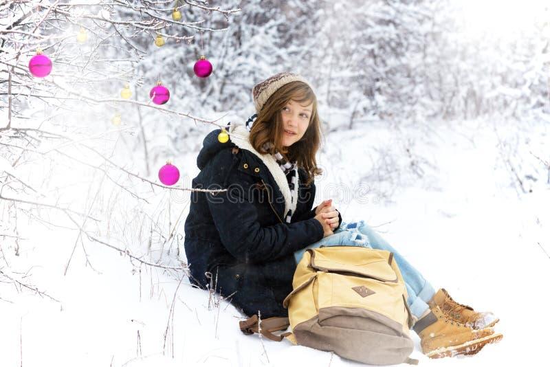 Vintern går royaltyfria foton