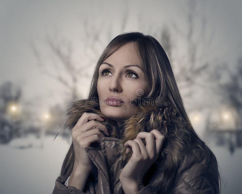 Vintern går arkivbilder