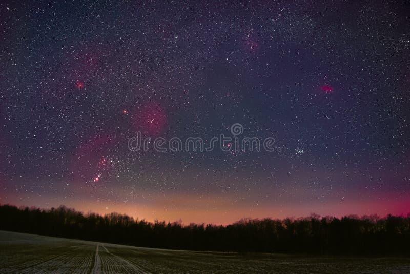 Vinternatthimmel royaltyfri bild
