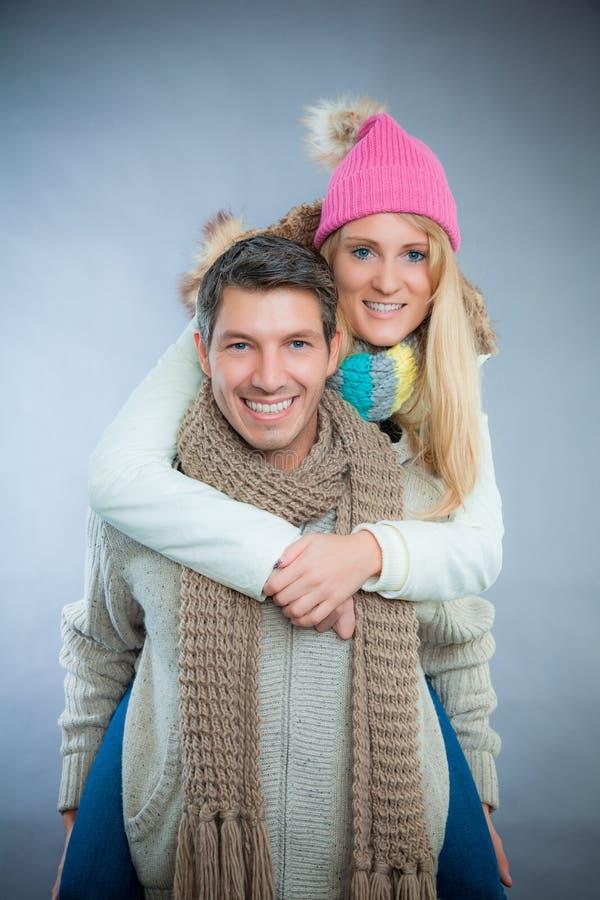 Vinterpar royaltyfria bilder