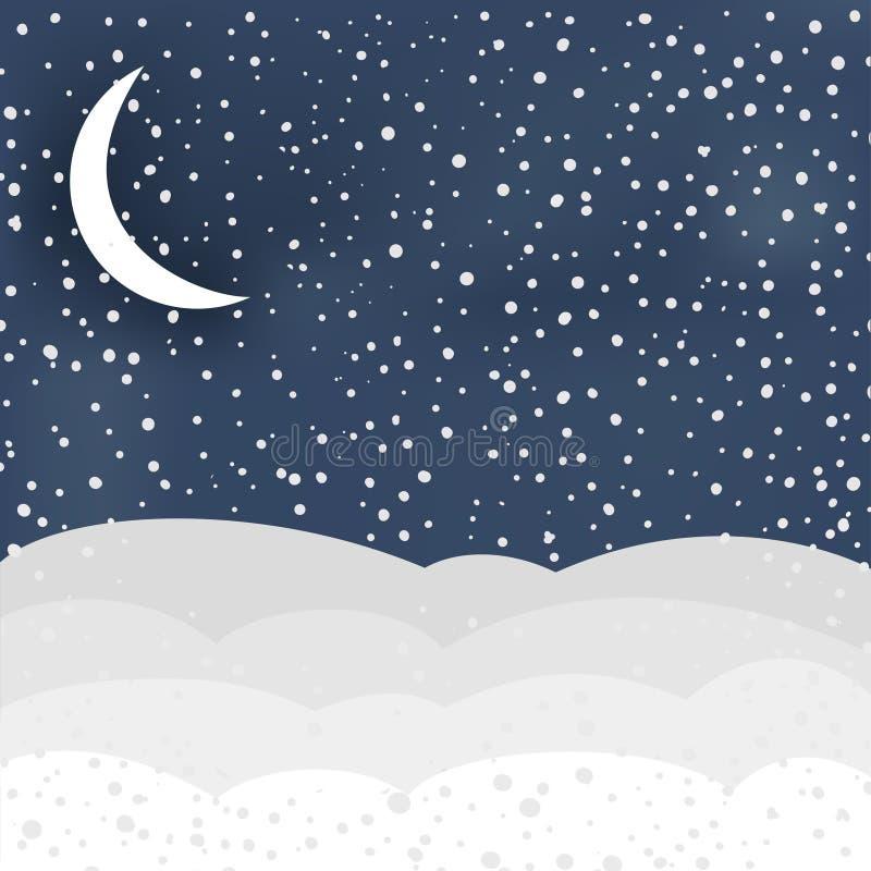 Vinterplats i vektor stock illustrationer