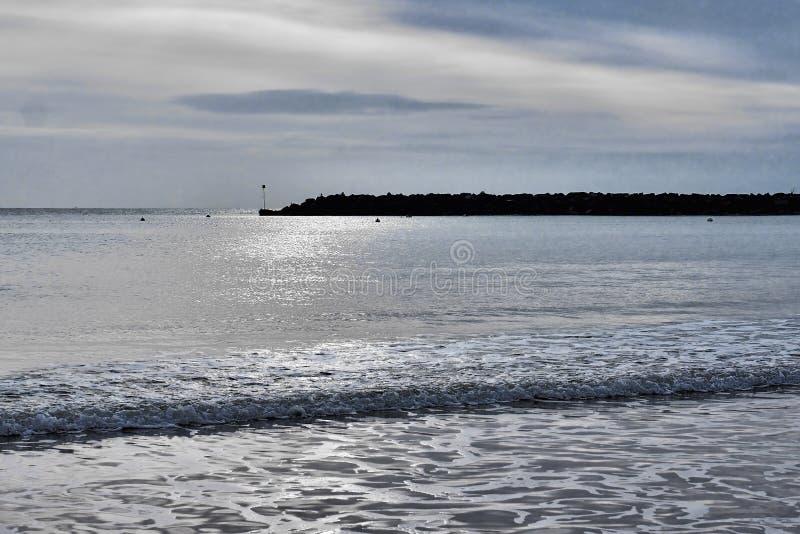 VinterSeascape - Lyme Regis royaltyfri foto