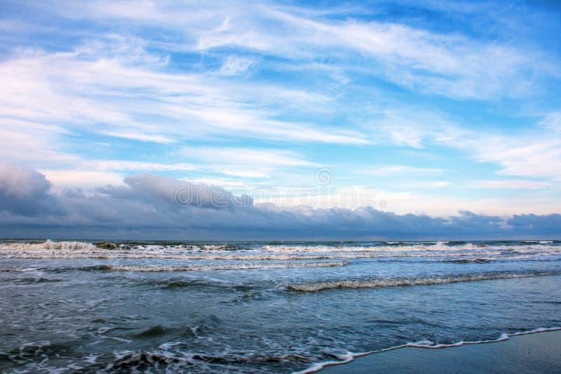 Vintersjösida av Kaspiska havet royaltyfri foto