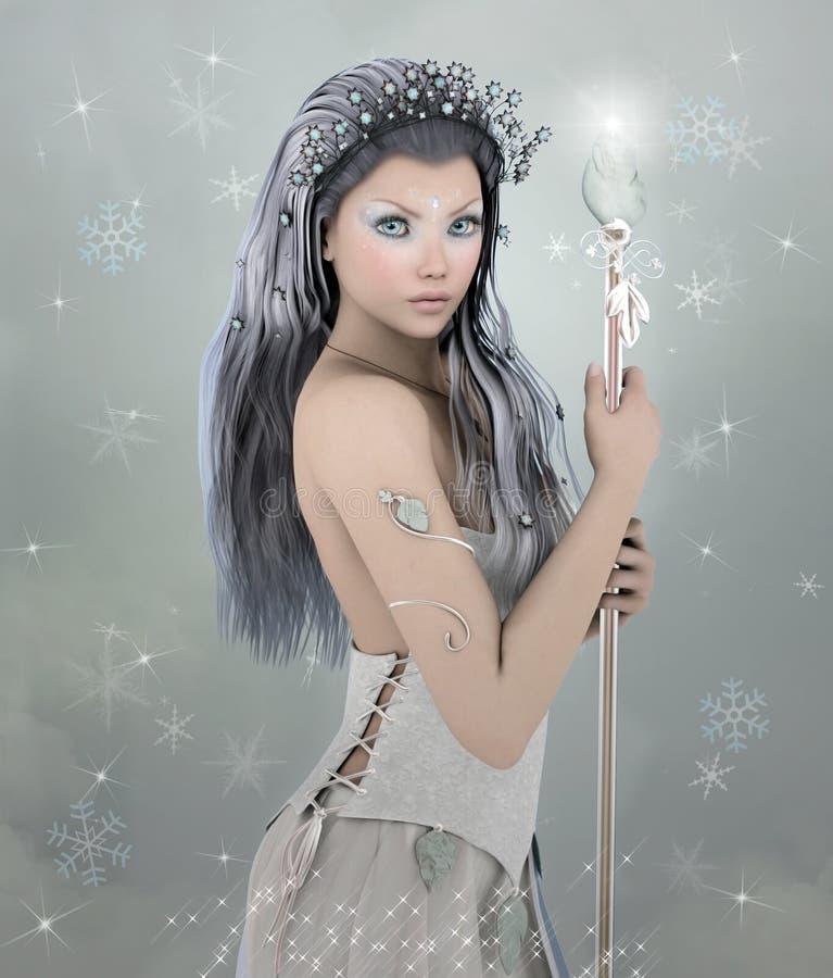Vinterskönhet royaltyfri illustrationer