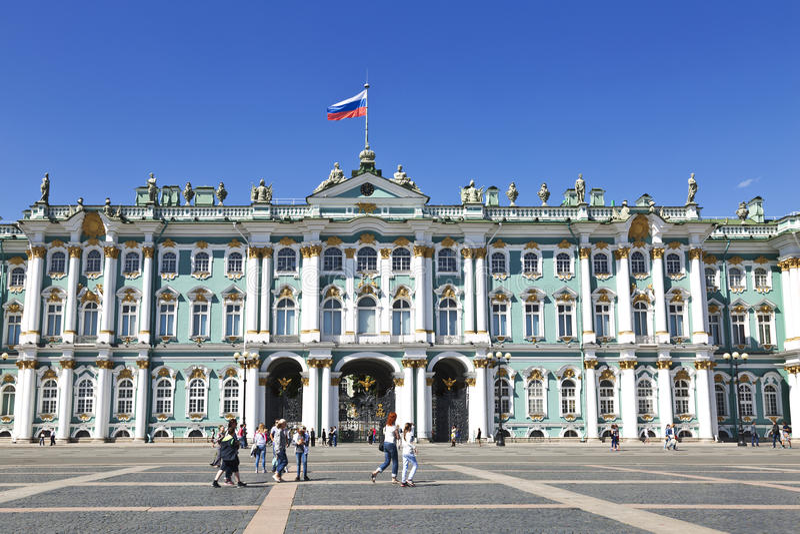 Vinterslott, eremitboningmuseum i St Petersburg, royaltyfri foto