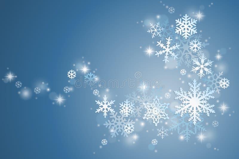 Vintersnöflingavirvel royaltyfri illustrationer