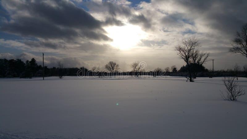 Vintersolsken arkivbild