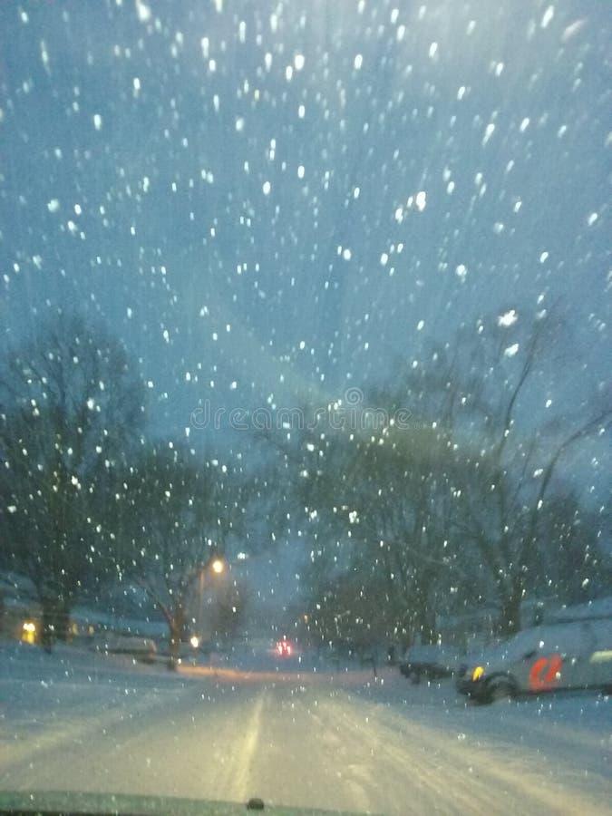 Vinterstänk i Minnesota royaltyfri foto