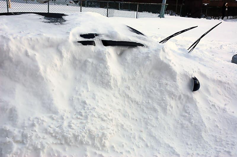 Vinterstorm i New York-area royaltyfria bilder