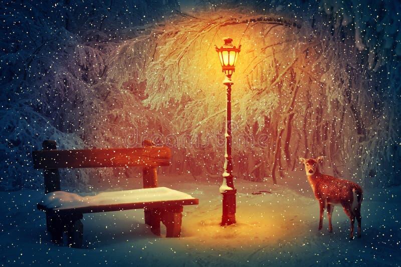 Vintertystnad stock illustrationer