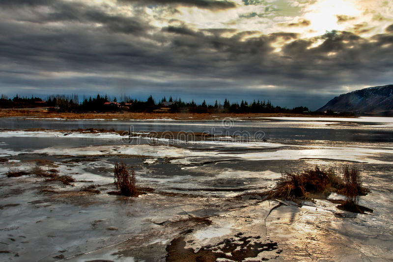 Vinterunderland fotografering för bildbyråer