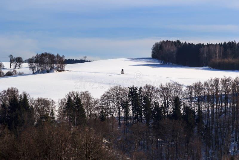 Vinterunderland i Erzgebirgen royaltyfri fotografi