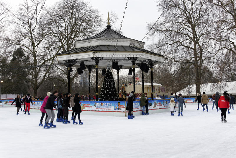 Vinterunderland i Hyde parken, London
