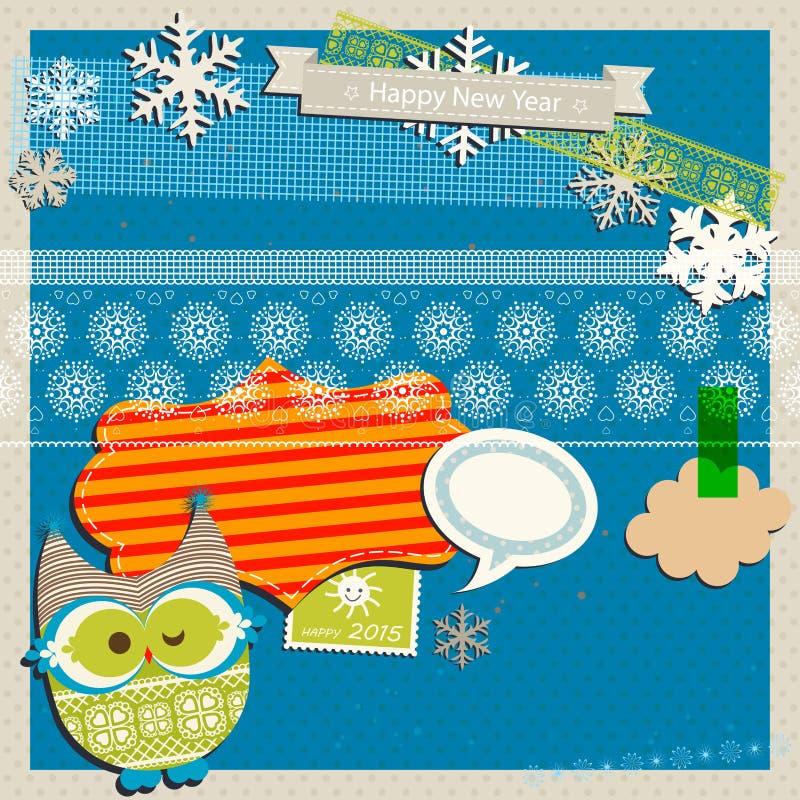 Vinterurklippsbokmall royaltyfri illustrationer