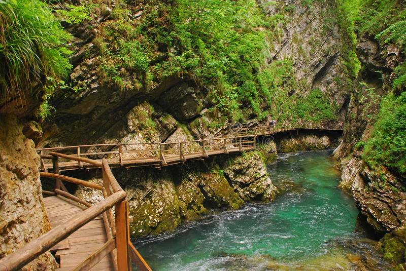Download Vintgar Gorge On A Morning Day Stock Photo - Image: 32347824