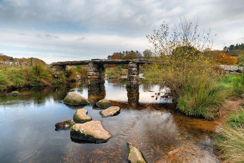 Vintrig dag på Dartmoor fotografering för bildbyråer