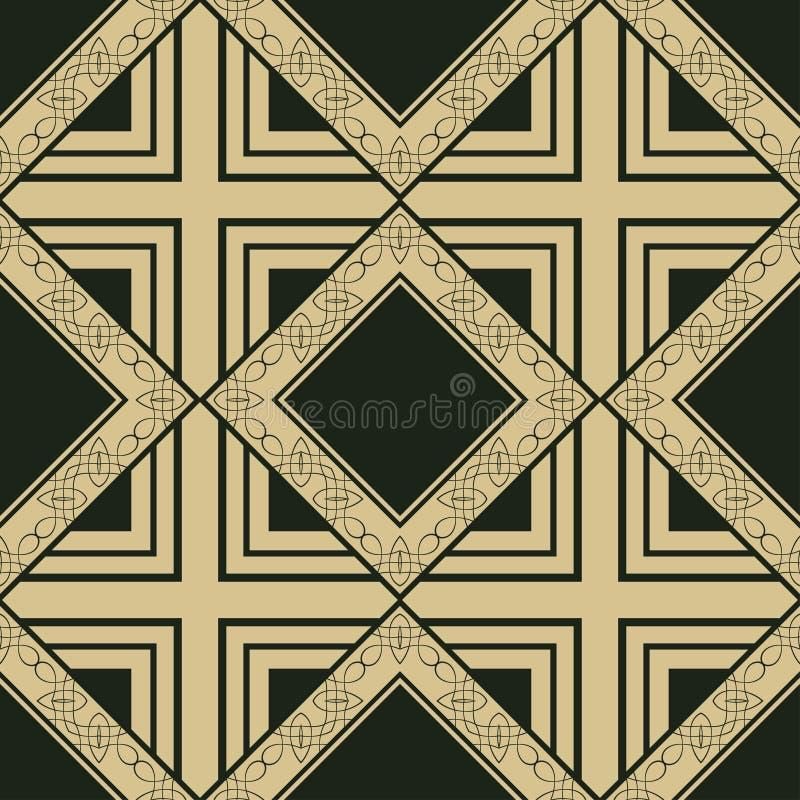 Vinttage naadloos patroon stock illustratie