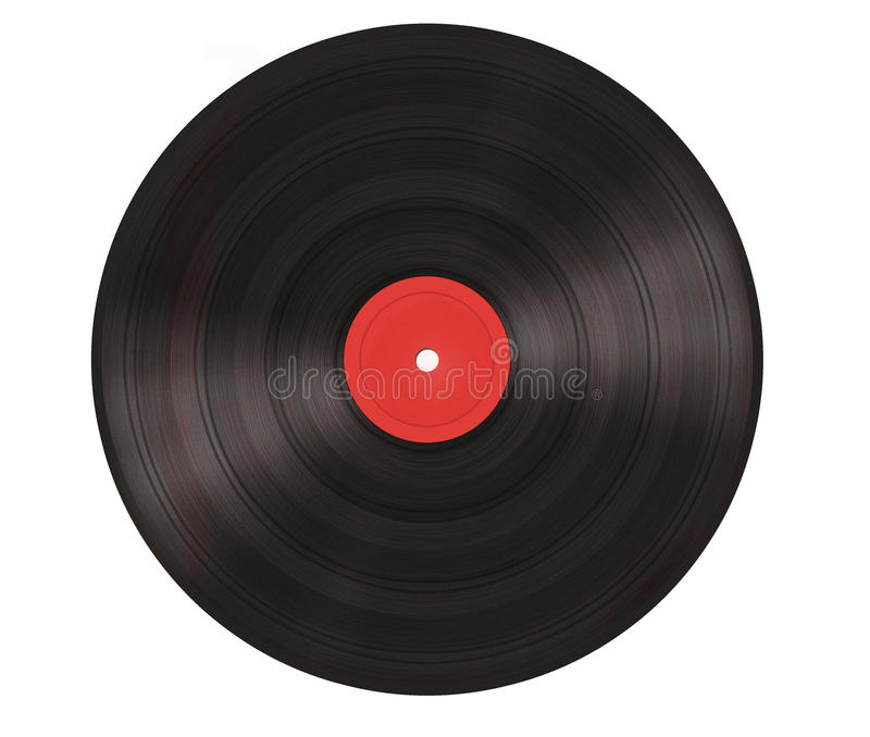 Vinyl. A red vinyl illutrated isolated royalty free stock image