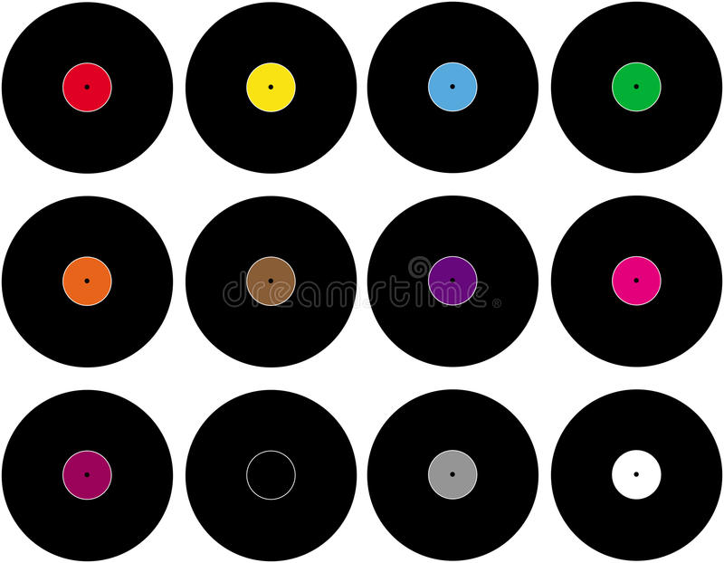 Vinyl stock illustrationer