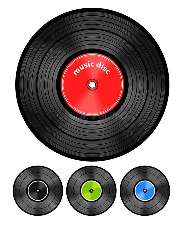 Download Vinyl audio discs stock vector. Image of engraved, classical - 22573666