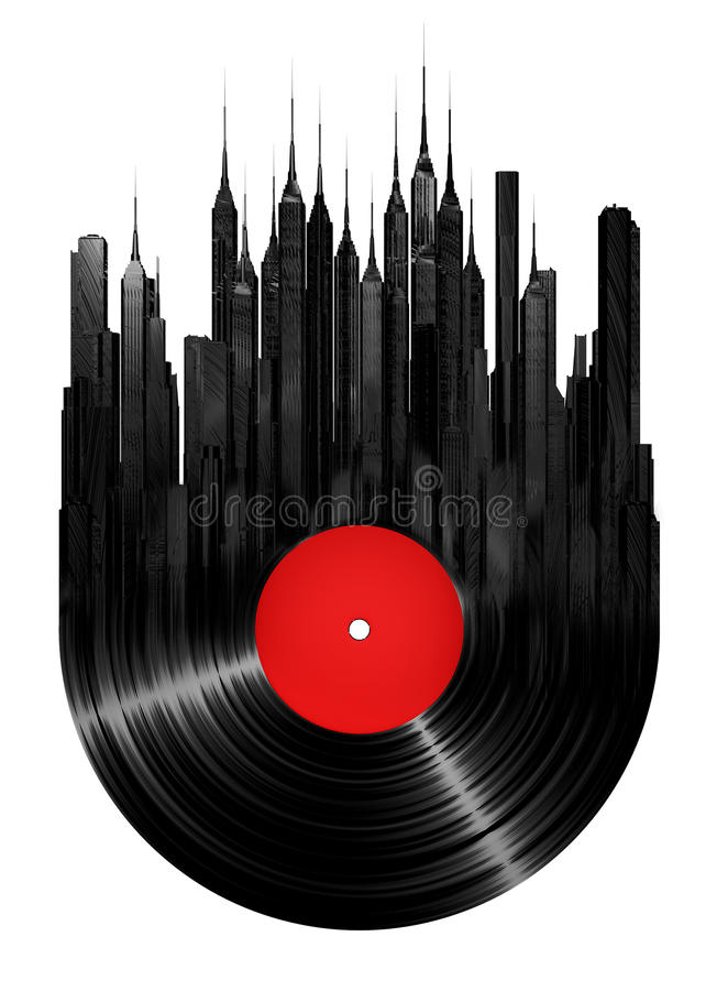 Download Vinyl city stock illustration. Image of building, isolated - 25366402