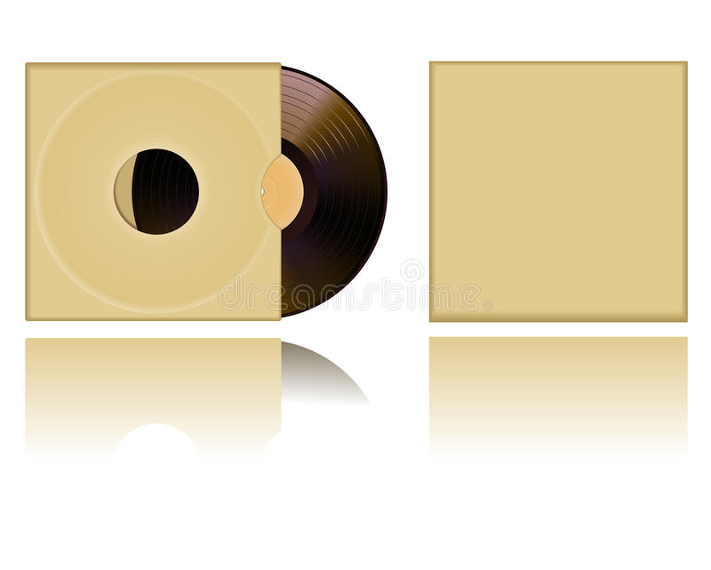 Download Vinyl cover stock vector. Image of audio, label, detail - 12216057
