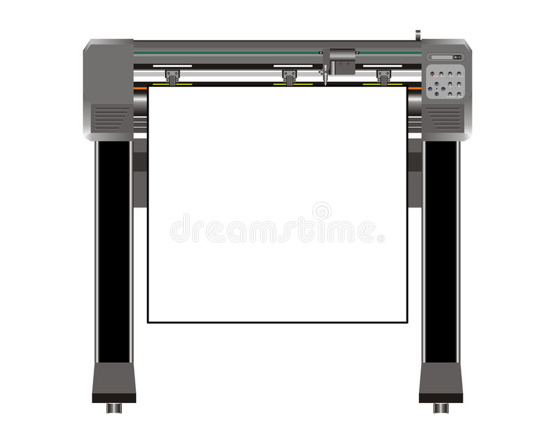 Download Vinyl Cutter stock illustration. Image of decals, cutter - 17380646