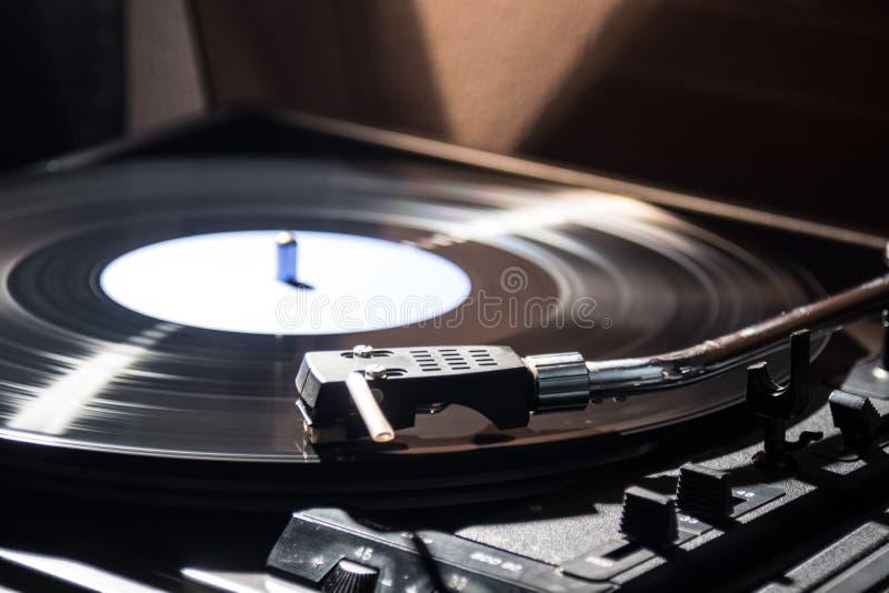 Vinyl. Delicate sound of vinyl records stock photos