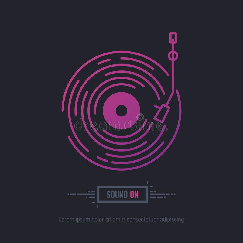 Vinyl disc record vector illustration