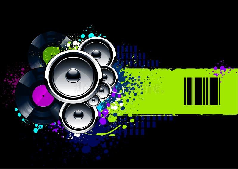 with vinyl discs stock illustration