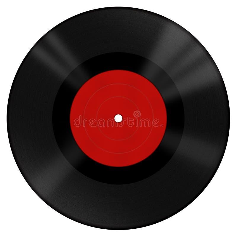 Download Vinyl disk with red label stock illustration. Illustration of label - 18292829