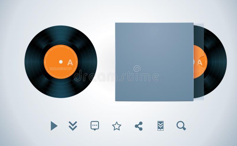 vinyl för vektor för diskkuvert stock illustrationer