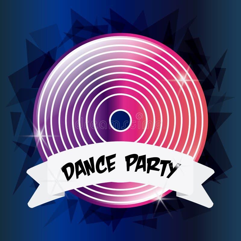 Vinyl icon. Electro Party design. Vector graphic vector illustration