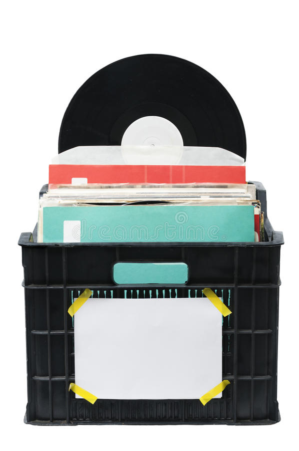 Vinyl Lps Box royalty free stock images
