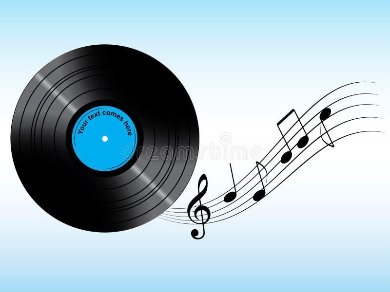 Vinyl mit kundenspezifischem Text vektor abbildung