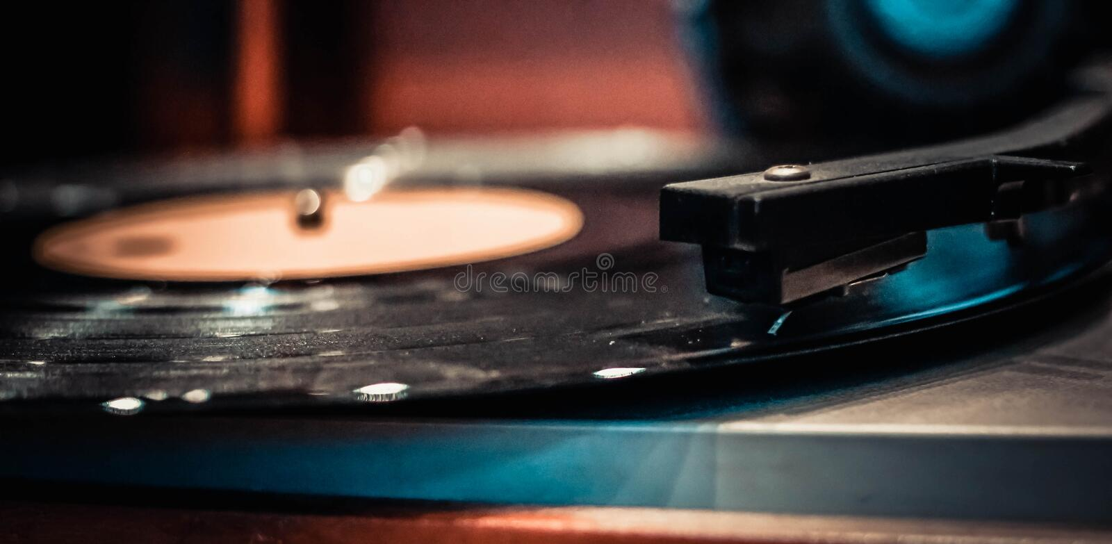 Vinyl. Music addict and vinyl lover royalty free stock photography