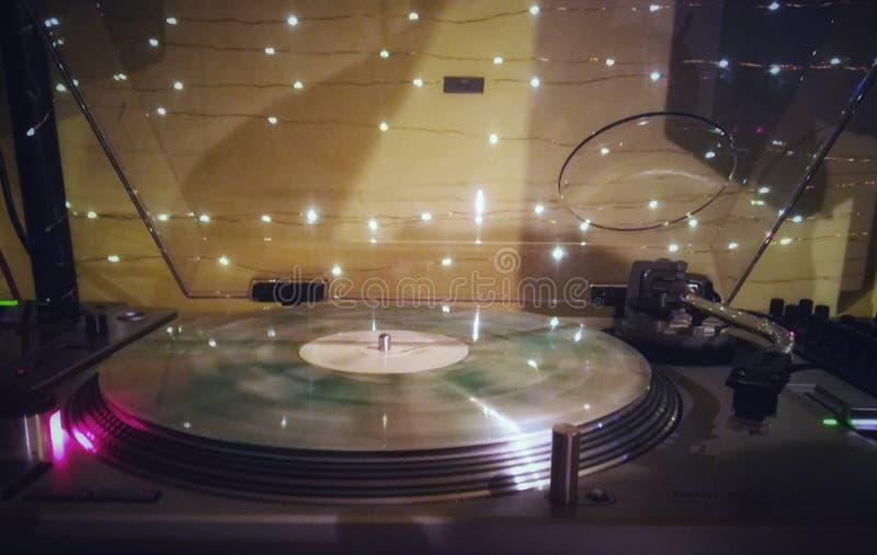Vinyl. Music player light colors dream free love stock images