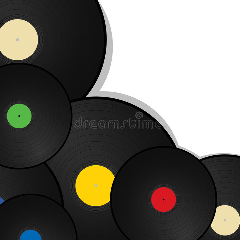 Vinyl  Background Royalty Free Stock Image
