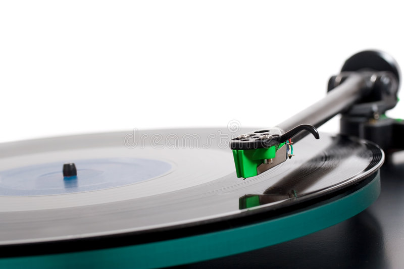 Vinyl player. Closeup of classic model of turntable royalty free stock photo