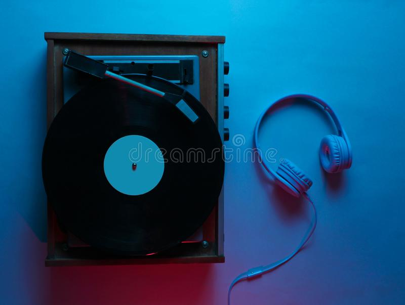 Vinyl player with lp record royalty free stock images