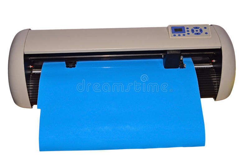Vinyl Plotter Cutting Machine. Isolated With PNG File Attached. A plotting machine use for cutting out vinyl graphics for vehicles, shops ect. isolated on a stock photos