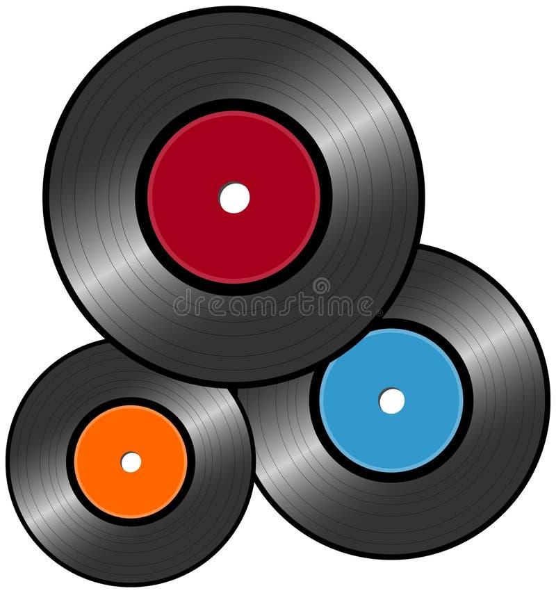 Download Vinyl Record stock vector. Image of antique, audio, cool - 11554142