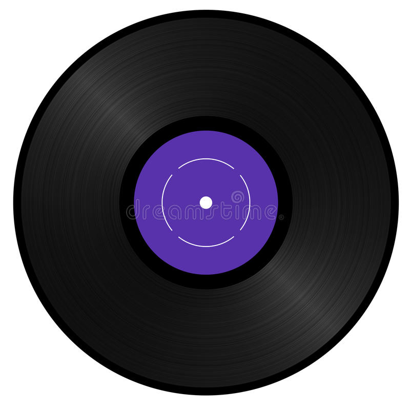 Vinyl record royalty free illustration