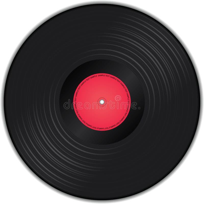 Vinyl record vector illustration