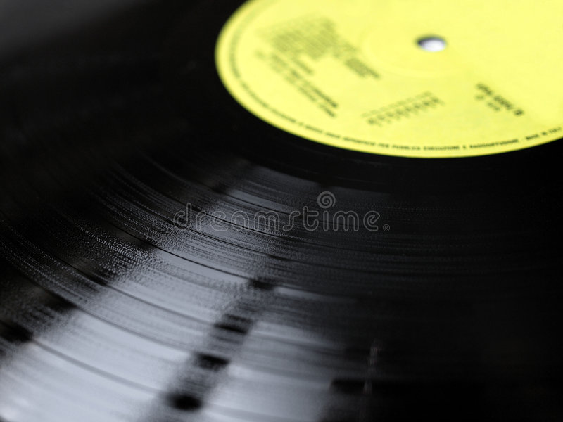 Vinyl record. Music recording support stock photo