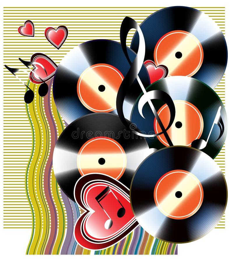 Download Vinyl record stock vector. Image of disk, background, metal - 9340698