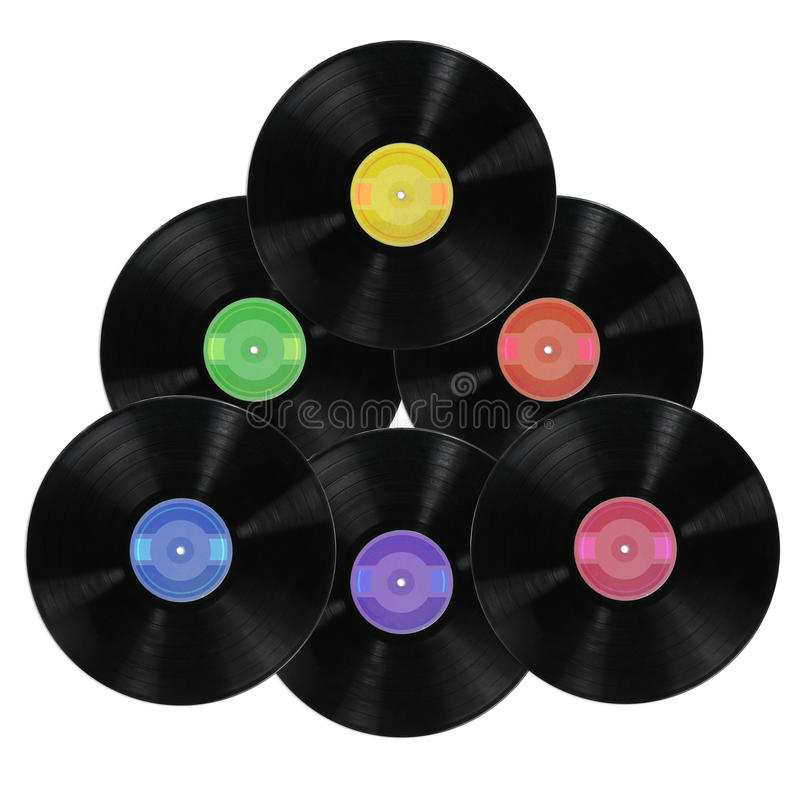 Vinyl Record Albums Royalty Free Stock Photography