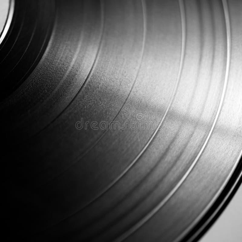 Vinyl record. Black vinyl record close up royalty free stock image