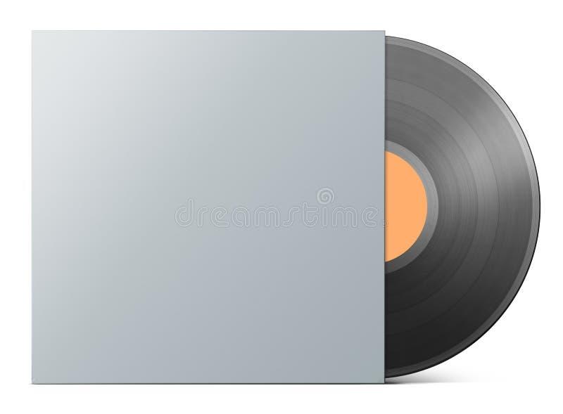 Vinyl record in blank cover envelope vector illustration